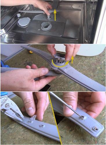 چگونه فیلتر و آبپاش ماشین ظرفشویی را تمیز کنیم