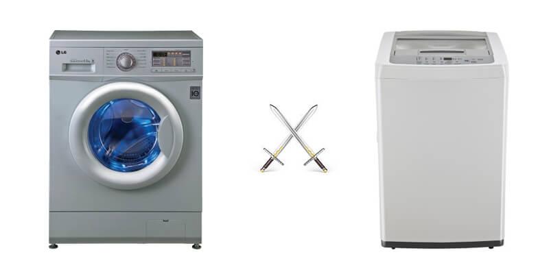 ماشین لباسشویی درب جلو و بالا