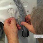 آموزش نحوه تعویض شلنگ تخلیه ماشین لباسشویی